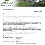 CBHS Newsletter 42 of 24 Nov '17