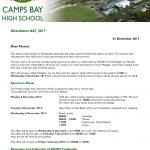 CBHS Newsletter 43 of 1 Dec '17
