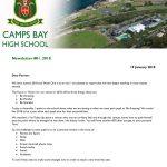 CBHS Newsletter 01 of 19 Jan '18