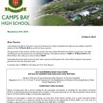 CBHS Newsletter 10 of 23 March '18