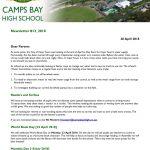 CBHS Newsletter 13 of 20 April '18