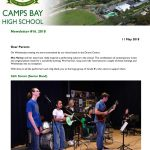 CBHS Newsletter 16 of 11 May '18