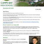 CBHS Newsletter 19 of 1 June '18