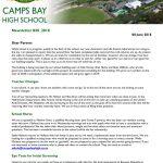 CBHS Newsletter 20 of 8 June '18