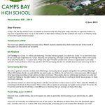 CBHS Newsletter 21 of 15 June '18