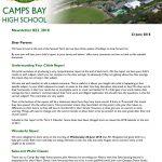 CBHS Newsletter 22 of 22 June '18