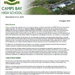 CBHS Newsletter 25 of 03 August '18