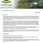 CBHS Newsletter 26 of 08 August '18