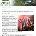 CBHS Newsletter 29 of 31 August '18