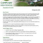 CBHS Newsletter 30 of 07 September '18