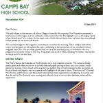 CBHS Newsletter 24 of 19  July '19