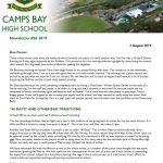 CBHS Newsletter 26 of 2 Aug '19