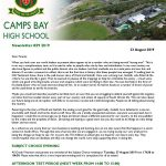 CBHS Newsletter 29 of 23 Aug '19