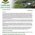 CBHS Newsletter 29 of 23 Aug '19