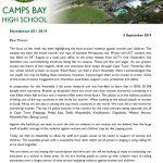 CBHS Newsletter 31 of 6 Sept '19