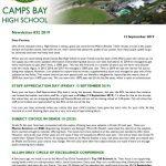 CBHS Newsletter 32 of 12 Sept '19