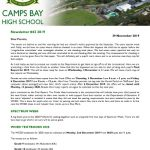 CBHS Newsletter 43 of 04 Dec '19