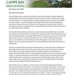 CBHS Newsletter 16 of 1 May '20