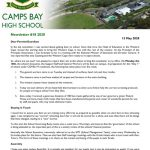 CBHS Newsletter 18 of 15 May '20