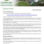 CBHS Newsletter 19 of 22 May '20