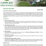 CBHS Newsletter 24 of 26 June '20