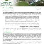 CBHS Newsletter 27 of 17 July '20
