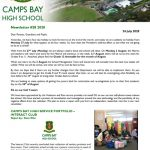 CBHS Newsletter 28 of 24 July '20