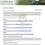 CBHS Newsletter 36 of 18 Sept '20