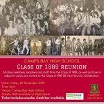 CBHS Class Reunion: Class of  1989 – 29 Nov '19