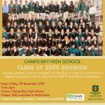CBHS Class Reunion: Class of  2009 – 29 Nov '19